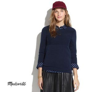MADEWELL Blue Textured Pullover Sweater Size XS